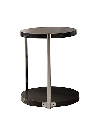 Monarch Metal Accent Table, Cappuccino, Each (I3005MSI)