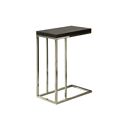 Monarch Hollow Core Metal Accent Table, Cappuccino, Each (I3007MSI)