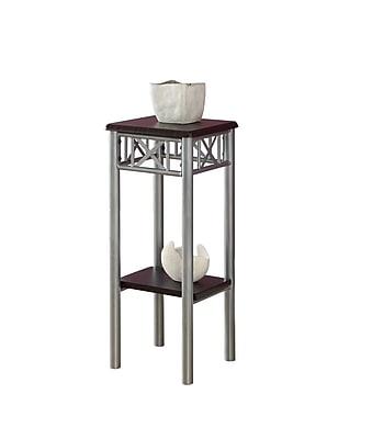 Monarch 28 1\/2 x 11.8 x 11.8 Metal Plant Stand, Cappuccino\/Silver