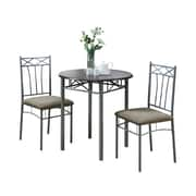Monarch Metal 3 Piece Bistro Set