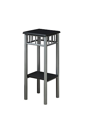 Monarch 28 1\/2 x 11.8 x 11.8 Metal Plant Stand, Black\/Silver