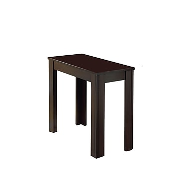 Monarch Wood Side Table, Cappuccino, Each (I3111MSI)