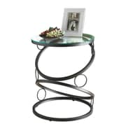 "Monarch 24"" Tempered Glass/Metal Accent Table, Clear"