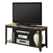 "Monarch 48"" Marble Top TV Console, Cappuccino"