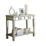 Monarch Glass Console Table, Silver, Each (I3700MSI)
