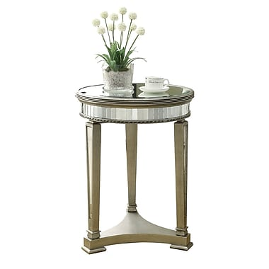 Monarch Glass Accent Table, Silver, Each (I3705MSI)