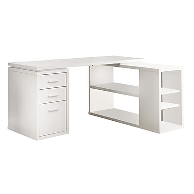Monarch Specialties Inc Corner Computer Desk White I 7023 Staples