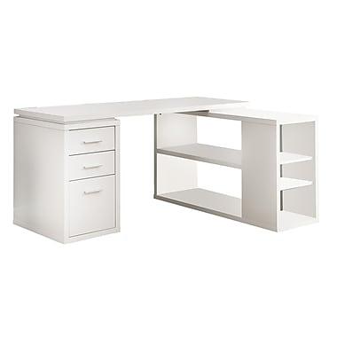 monarch specialties inc corner computer desk white i