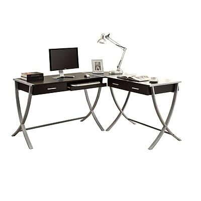 Monarch Specialties I 7176 HollowCore Corner Desk Cappuccino