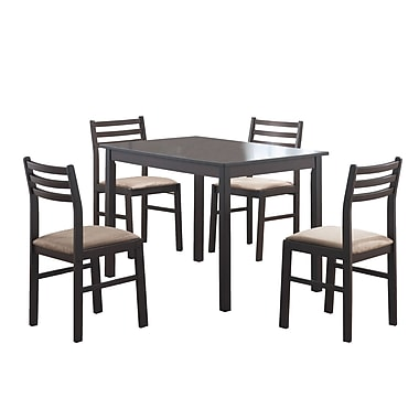 Monarch 5PC Veneer Dining Set, Cappuccino