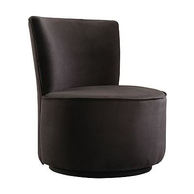 Homebelle Microfiber Armless Swivel Chair Black 78102s501w Staples
