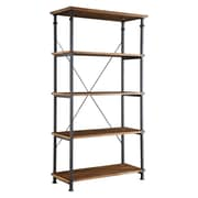 "HomeBelle Vintage Industrial 40"" Modern Rustic Bookcase"