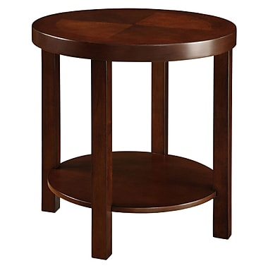 HomeBelle Casual Wood End Table, Brown, Each (783292-04(MTL))