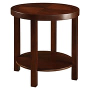HomeBelle Casual End Table, Warm Cherry Brown