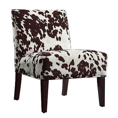 HomeBelle Cowhide Fabric Chair