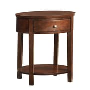 HomeBelle Oval Accent Table Nightstands