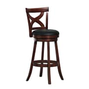 "HomeBelle 29"" X-Back Swivel Barstool; Cherry"