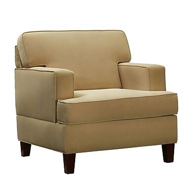 HomeBelle Microfiber Arm Chair, Beige (789992-1(3A))