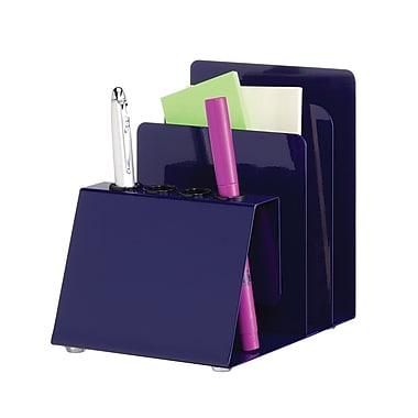 MMF Industries™ STEELMASTER® Steel Organizers Pen and Note Holder, Blue