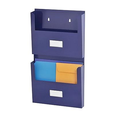 MMF Industries™ STEELMASTER® Soho Collection™ 2-Pocket Organizer With Bracket, Blue