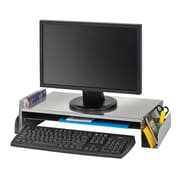 MMF Industries™ STEELMASTER® Monitor Stand, Silver