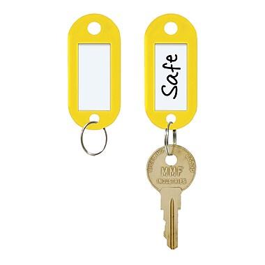 MMF Industries™ STEELMASTER® Label-Window Key Tags, Yellow, 2