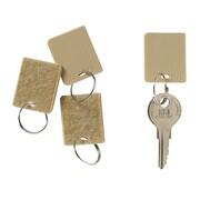 MMF Industries Hook & Loop Fastener Key Tags, Tan, 1 1/4 inch H x 1 inch W by