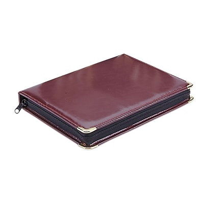 MMF Industries™ STEELMASTER® Portable Zippered Key Case, Burgandy, 11 7/8