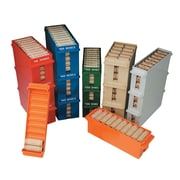 """MMF Industries™ Porta-Count® Rolled-Coin Storage Tray, Gray, $200 Dollars, 1 3/4""""H x 3""""W x 11 3/8""""D"""