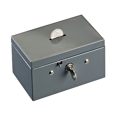 MMF Industries™ STEELMASTER® Coin & Stamp Box, Gray, 3 1/16