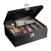 "MMF Industries™ STEELMASTER® Anti-Theft Cable Cash Box, Black, 4""H x 11""W x 7 3/4""D"