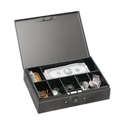 "MMF Industries™ STEELMASTER® Cash Box with Safety Latch, Gray, 2 1/4""H x 10 1/4""W x 7 1/4""D"