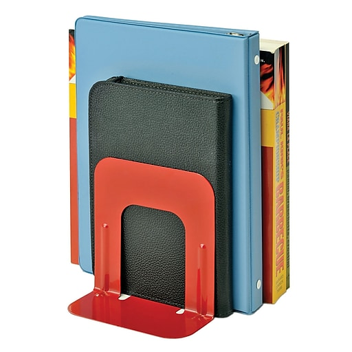 "MMF Industries™ STEELMASTER® Soho Collection 5"" Economy Bookend, Red"