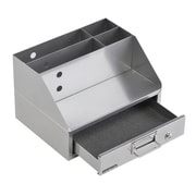 MMF Industries™ Soho Collection™ Docking Station, Silver, 4 Compartments