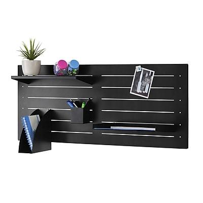 MMF Industries™ STEELMASTER® Slot System Large Shelf, Black, 15 1/4