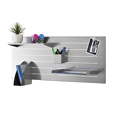 MMF Industries™ STEELMASTER® Slot System Large Base, Silver, 15 1/4