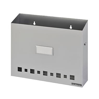 MMF Industries™ STEELMASTER® Soho Collection™ Wall File Basket With Label Holder, Silver