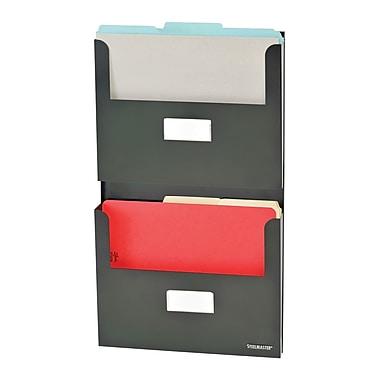 MMF Industries™ STEELMASTER® Soho Collection™ 2-Pocket Organizer With Bracket, Black