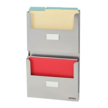 MMF Industries™ STEELMASTER® Soho Collection™ 2-Pocket Organizer, Silver