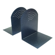 "MMF Industries™ STEELMASTER® 7"" Fan-hole Pattern Bookend, Granite"