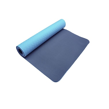 Trimax Sports Zenzation PurEarth 2 3mm ECO Ultimate Mat, Navy Blue/Light Blue