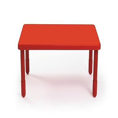 Angeles Preschool 28'' Square Table, Candy Apple Red (AB700PR24)