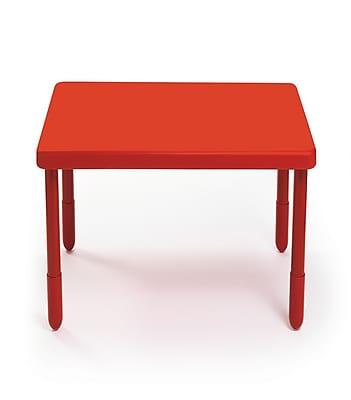 Angeles Preschool 28'' Square Table, Candy Apple Red (AB700PR22)