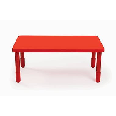 Angeles Value 48'' Rectangular Table, Candy Apple Red (AB705PR20)