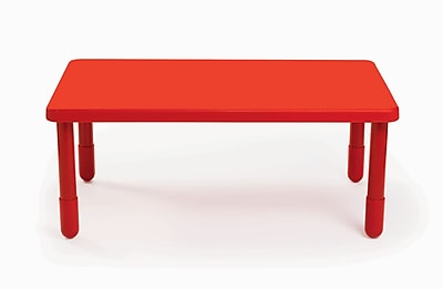 Angeles Value 48'' Rectangular Table, Candy Apple Red (AB705PR24)