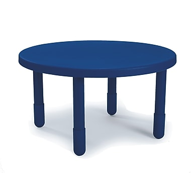 Angeles Preschool 36'' Round Table, Royal Blue (AB710PB24)