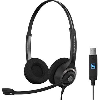 Sennheiser SC 260 Binaural Over-The-Head USB Headset, Black/Silver
