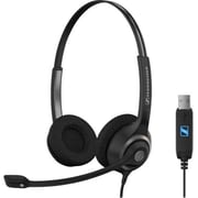 Sennheiser SC 260 Binaural Over-The-Head USB Headset, Black/Silver