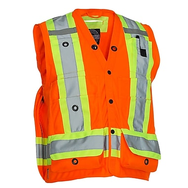Forcefield Surveyor's Vest, Orange, Large