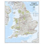 National Geographic Maps England and Wales Classic Wall Map,36'' x 30''; Paper